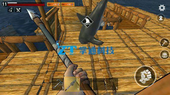 木筏求生船体怎么放置?