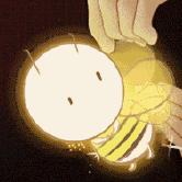 抖音发光蜜蜂抖星星表情包